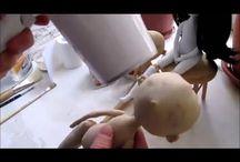 Тонировка текстильных кукол