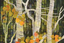 Gloria Loughman landscape quilts