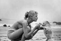 Puppies and Princesses / Vintage Hollywood Starlets.  With Dogs.