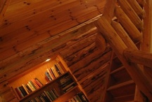 CounterEv | Cabin / Our Catskill, NY cabin is available for rent for week/weekends. It is replete with reclaimed bowling lane wood furniture.