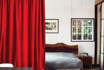Divisória ambiente com cortina