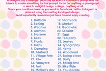 Spring into Design / A design a day challenge for each day in March