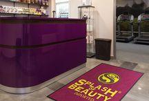 Beauty Shop and Spa Logo Rugs / Custom Logo Rugs for Beauty Shops and Spas
