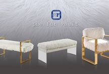 Meridian Furniture's Fur Vault / Meridian Furniture - Fur accent pieces - Lessen the stress in your life by enjoying one of these plush and comfortable accent pieces. Elegant and chic, they will be the focal point of any room