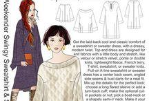 Inspiration: Swingy Sweatshirt & Sweaterdress