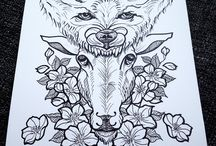 wolf and sheep tattoo