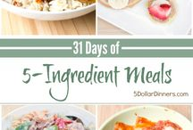 31 Days of 5-Ingredient Meals / Celebrating the ease of cooking 5-Ingredient recipes for our new 31 Days series! See all the recipes on 5DollarDinners.com  / by $5 Dinners {Erin Chase}