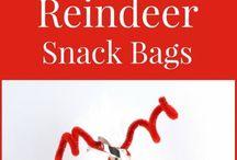 Reindeer snack bags