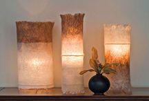 Лампы текстиль и бумага