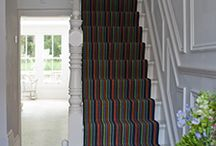 Stair runner ideas / We've created this board to give you lots of ideas of all of the different stair runners available.  We can make you a stair runner out of any carpet you like and edge it with various tapes and stitching.