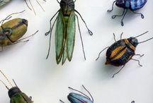 insectos de epoxi alambre y tela