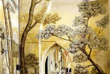 Paintet walls