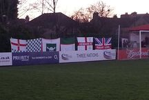 Flags on Tour / Hendon flags photographed at various games.
