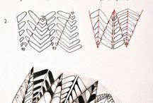 16 zentangle pattern P