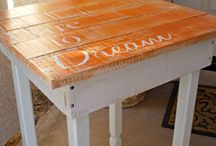 MAKING YOUR OWN END TABLES AND MIRROR FRAMING IDEAS / by michelle jones