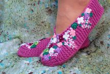 pretty knitted slippers