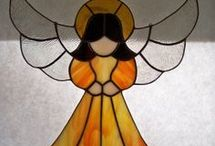 Witraż-anioły