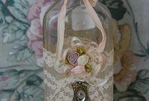 potes de vidro decorados