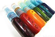 creating colour sprays