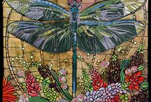 dragonfly, butterfly