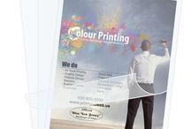Laminated menu printing