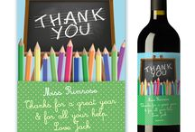 Teacher Thank You's / Thank a special Teacher/Helper/Dinnerlady/Professor/TA this final school term for a great year with a personalised wine label