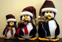 pingüinos de navidad