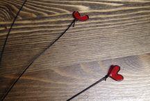 Nagellack,  super süsses Diy mit Draht und Nahellack / Herzen, Blumen oder sonstiges aus Draht biegen und nach Lust und Laune mit Nahellack überziehen