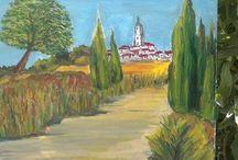 Provence / Huile sur toile