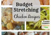 Budget stretching recipes and ideas