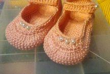 scarpette neonata uncinetto
