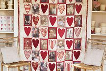 Heart and photo quilt