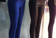 Pantalones / Pantalón licrado en cuerina o vengalinas