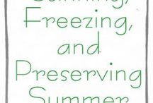 Freezing preserving canning