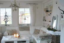 gardinen wohnzimmer landhaus