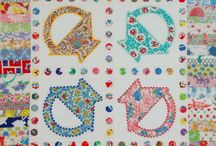 Feedsack Quilt Kits / The kits are available at www.hollyhockquilts.com