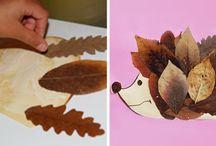 otoño crafts niños
