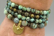 Wrist Wrap Malas / 108 bead designer wrist wrap malas on a stretch cord for easy wear during your yoga practice - or simply because they're beautiful!  100% OF PROFIT IS DONATED to STOP Girl Trafficking - a program of the American Himalayan Foundation.  Each purchase keeps a girl in school and safe from trafficking for one year!
