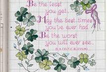 Cross stitch patterns - Irish