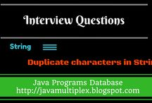 Interview Questions / The solution of interview questions in java.