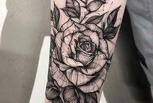 růže tetování