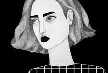 retratos ilustraciones