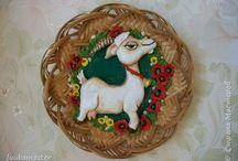 Коровы козы(лепка)