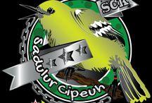 logo komunitas burung cipow sirtu / logo