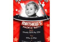 Children's Personalised Party Invites / Planning a children's birthday party can be stressful, but with our unique and personalised invites to complement your party theme, it couldn't be easier. For our full range visit www.justthecard.co.uk.