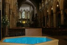 Portable Baptistries / We sell and hire beautiful, spacious, sturdy baptistries that can be set up and then stored away. Truly portable and to suit all spaces and budgets.