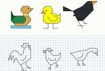 disegni sui quadretti