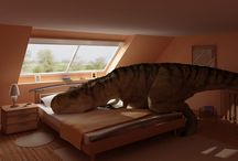 Dinosaurs at Rest / When Dinosaurs get tired of entertaining.
