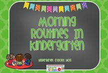 Morning Routines in Kindergarten / Here are an assortment of ideas to use when your little ones come through the door in the morning. It is important to keep them engaged and learning! / by Kindergarten Crayons