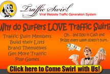 Traffic Swirl - My Most Favorite Program / Traffic Swirl is a manual traffic exchange owner by John Bell. I won a referral contest and became a Lifetime Elite member. I get consistent commissions from Traffic Swirl and it is my most favorite.  Many members earn commissions here and are addicted to this traffic exchange. :)
